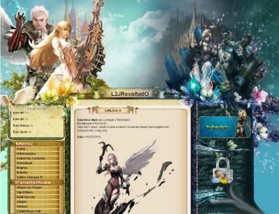Destiny шаблон для l2 сайта