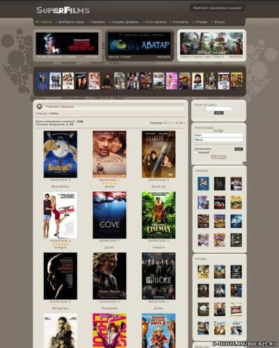 Рип шаблона superfilms.net.ru